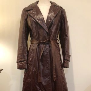 ON SALE Vintage 70s Leather Trench made in NY
